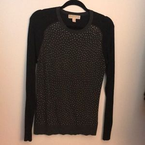 Michael Kors Black and Grey sweater